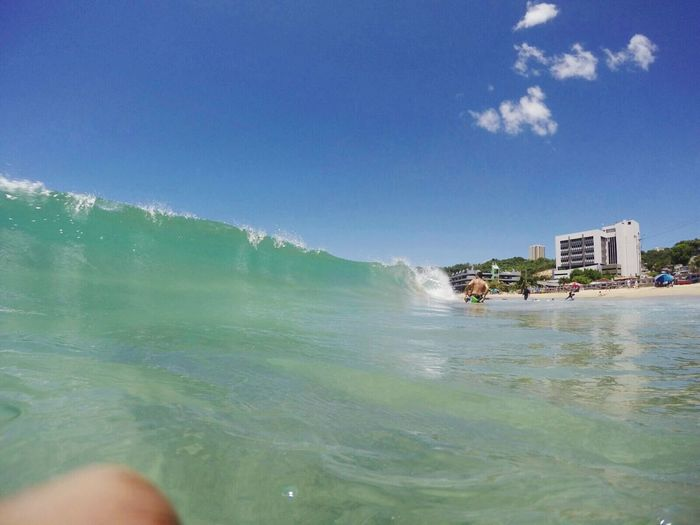 Olas Surf Aguadilla, Puerto Rico Playa Rompeola Pantere Sol Playa Isla Del Encanto Blue Sky