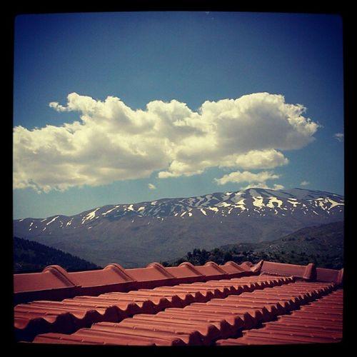 Haramoun Mountain Jabal Elshaykh rachayabekaalebanoneastersundaycloudssnowsunbeautifullweatherinstagoodinstagramtagsforlikes