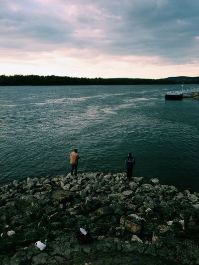 Fishing with the bros Hungary Color Portrait Relaxing Hello World
