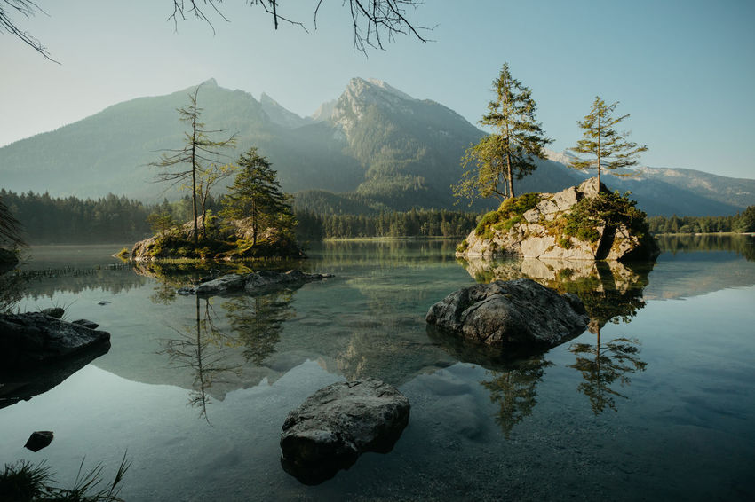 Beauty In Nature Day Hintersee Lake Landscape Mountain Nature No People Outdoors Ramsau  Reflection Scenics Sky Tree Water First Eyeem Photo