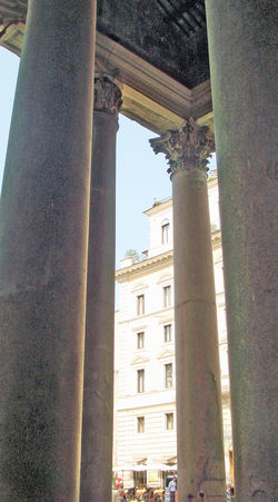 Rome, Italy Sep 2 - 4, 2011 Architectural Column Architecture Building Exterior Built Structure City Day History Italy Low Angle View No People Outdoors Pantheon Rome Rome Italy Sky Iphone3g