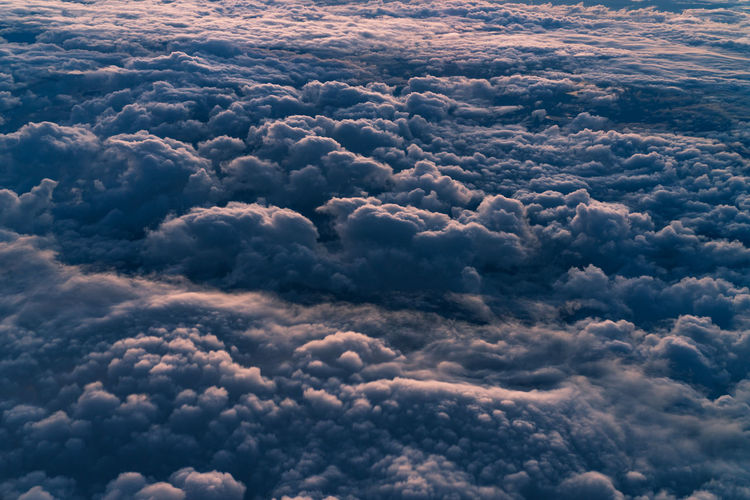 Above Aerial View Backgrounds Beauty In Nature Cloud - Sky Cloudscape Day Fluffy Full Frame Heaven Idyllic Majestic Meteorology Nature No People Ominous Outdoors Overcast Scenics - Nature Sky Softness Tranquil Scene Tranquility
