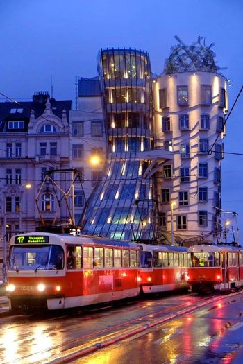 Night Illuminated City Street Mode Of Transport Dusk Cityscape Train - Vehicle City Outdoors No People Building Exterior Nightlife Architecture Sky Urban Skyline Fujifilm_xseries Fuji City Built Structure Modern Glass - Material Prague Prague Photography Prague Czech Republic Prague At Night