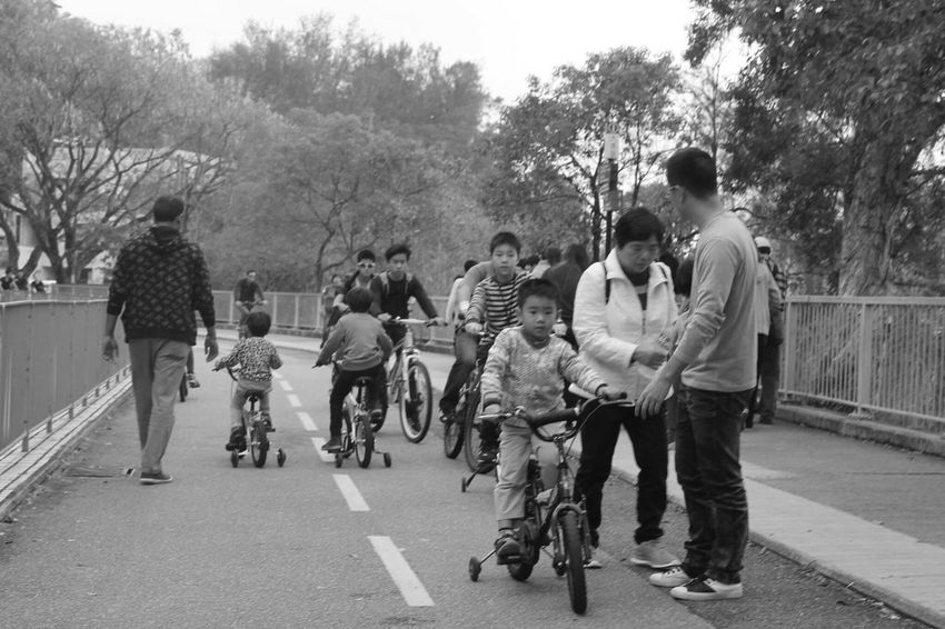 A relaxing day Hong Kong ASIA Asian  People Kids Biking