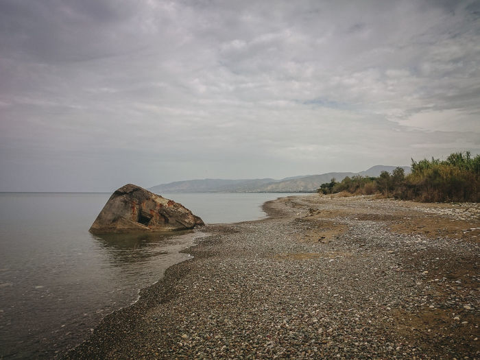 Beach Cloudy Cyprus Escape Escapism Holiday Latchi Latxi Moody Sky Nobody Outdoors Sea Seascape Travel Wilderness Wreckage Copy Space The Great Outdoors - 2017 EyeEm Awards