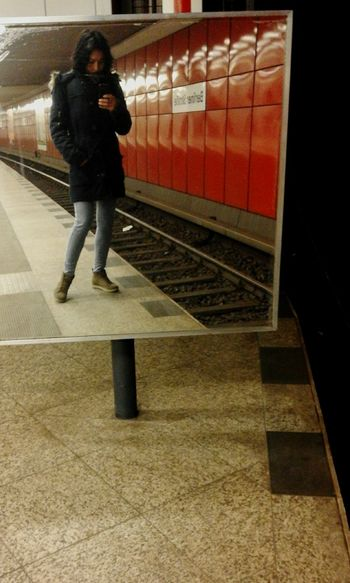 Showcase March Berlin Underground Metro Station U-Bahn Berlin Waiting For The Metro Selfie With My Phon Berliner Strasse Waiting Allone Urban Transports Urban Lifestyle Metropolitan City Capture Berlin The Street Photographer - 2017 EyeEm Awards The Portraitist - 2017 EyeEm Awards