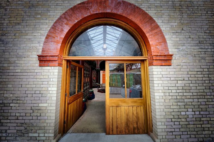 Crossness Pumping Station Architecture Brick Arch Entrance Wall Brick Wall Door