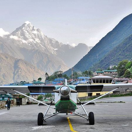 What an awesome view at Tenzing Hillary Airport at Lukla. Its the gateway to Everest and many other great mountains in the khumbu region. Traveltheworld Travelgram Instatravel Travel Travelphotography Nepal Khumbu Mountain Landscape Landscapephotography Neverstopexploring  Airport View Awesome Beauty
