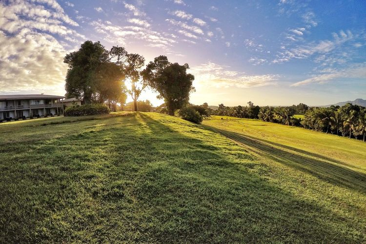 Sunset on the 9th hole... GoPro Hero 4 Tropical Fiji Relaxing Scenery EyeEm Best Edits Soaking Up The Sun Travel Golf Course