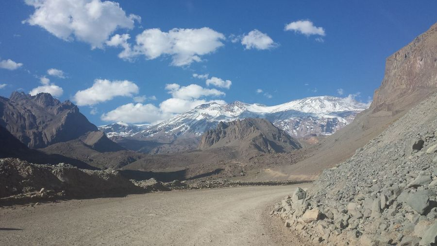 Arid Climate Cajon Del Maipo Chile Geology Landscape Mountain Physical Geography Snow Tranquility Volcano