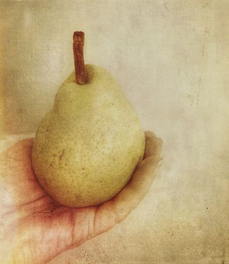 Hand Artistic Expression Fruit Pear Food And Drink Food Healthy Eating Still Life Indoors  Close-up Freshness Sweet Food Creativity Wellbeing Textured  High Angle View Art And Craft Sweet No People
