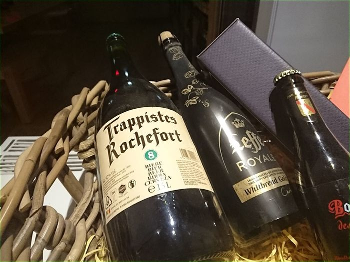 Berlin, Germany - January 28, 2018: Bottles of Trappistes Rochefort and Leffe beer. Rochefort Brewery (Brasserie de Rochefort) is a Belgian brewery which produces three beers known as Trappist beers Beer Beer Bottle Beers Beverage Beverages Thirst Thirsty  Beer Bottles Beer Time Bottle Bottle Of Beer Bottles Brand Close-up Drink Drinking Drinking Beer Editorial  Indoors  Leffe Trappist Trappist Beer