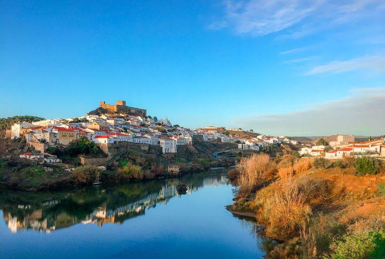 Mértola village reflected