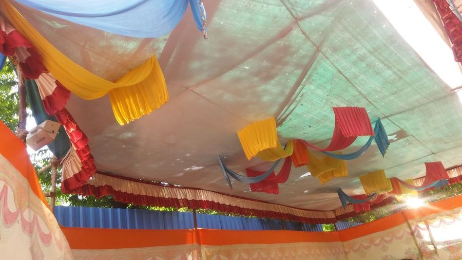 Hanging Low Angle View Working Occupation Indoors  People Day Adult One Person Sky Tent Mandap