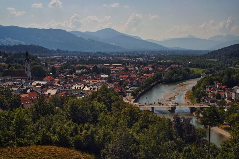 Bad Tölz Architecture Building Exterior Built Structure Mountain City High Angle View Plant Cityscape Water Outdoors Scenics - Nature