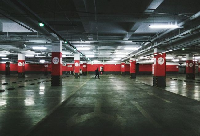 PhonePhotography Phone Photography Alone Underground Underground Parking Lights Indoors  Illuminated Sport Match - Sport One Person
