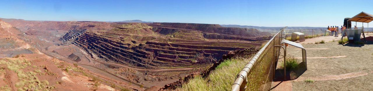 Australia Bhp Iron Ore Mine Minning Industry Mount Whaleback Pilbara Pilbara Region Western Australia WesternAustralia Iron - Metal Iron Ore Mine Iron Ore Minning Industry Minning Boom Open Cut Minning Pit