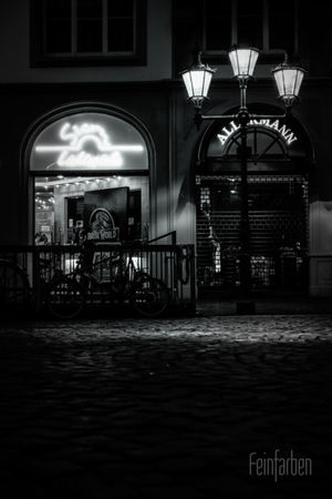 Goodnight Feinfarben Photography Night Lights Blackandwhite Urban City Bonn Landscape Lanterns Citylights