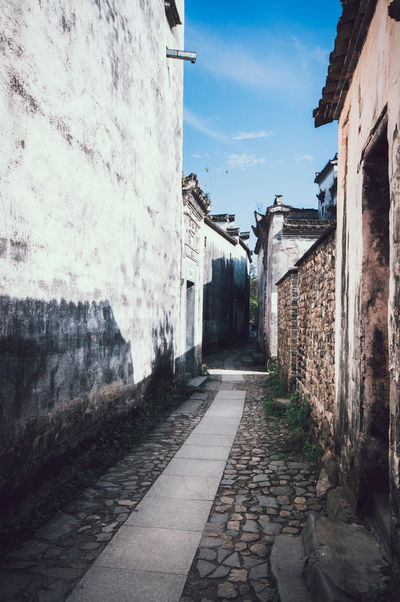 Anhui,China Architecture Building Building Exterior Built Structure Chinese Classic Huizhou Leading Nanping Narrow Ruined The Way Forward Traditional Culture