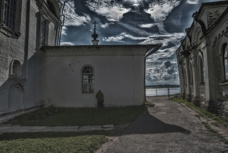 Architecture Building Exterior Built Structure Cloud - Sky Day Lonly Prey Lonlyness One Person Outdoors People Pteyer Sky