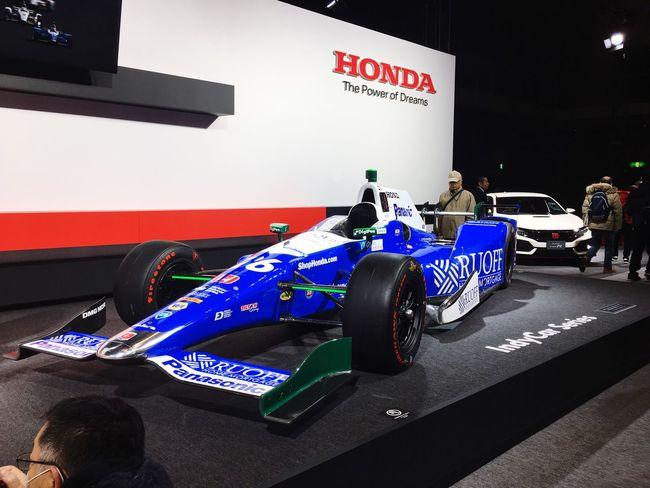 福岡モーターショー Honda Indy500 Car Text Western Script Communication Real People Indoors  Day Politics And Government