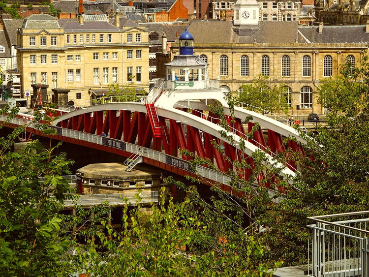Swing Bridge River Tyne, Newcastle Upon Tyne Architecture High Angle View Built Structure Building Exterior City Outdoors No People Day Horizontal Bridge - Man Made Structure