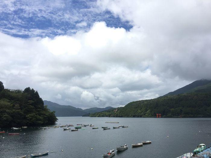 Sky Sky And Clouds Cloud Lake Lake View Japan Hakone Water