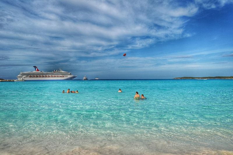 Half Moon Cay Bahamas Cruise Cruise Ship Nature Travel Beach Holiday Water Traveling