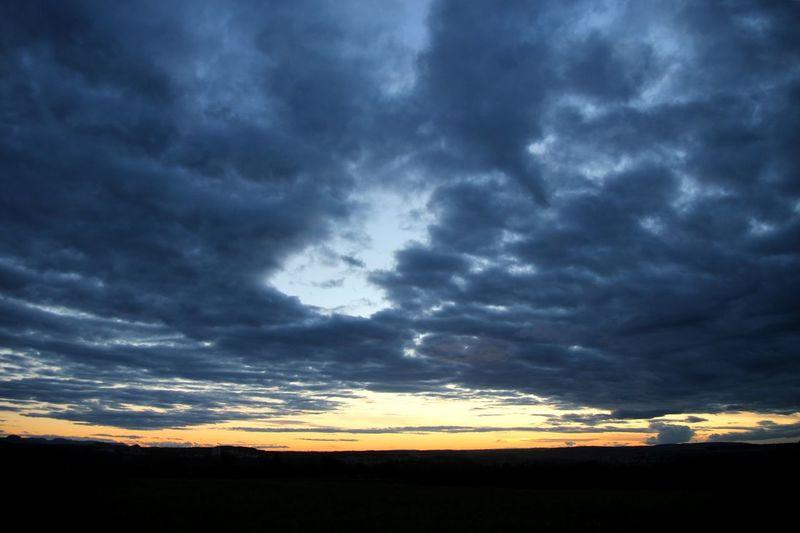 Atmosphere Atmospheric Mood Blue Calm Cloud - Sky Cloudscape Cloudy Dark Dark Sky Dramatic Sky Grey Grey Sky Landscape Majestic Nature Outdoors Scary Scary Sky Scenics Silhouette Sky Storm Storm Cloud Sunset Tranquil Scene