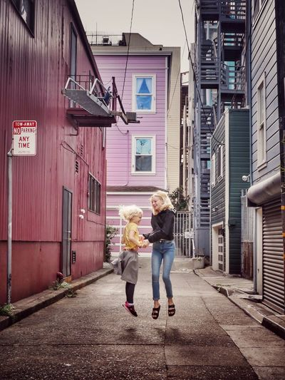 Be. Ready. Play Have Fun Lightness Of Being Joy Sisters Two People Happiness Love Sibling Love Blondes Have More Fun San Francisco Jump Levitation Alley Purple Be. Ready. California Dreamin Stories From The City