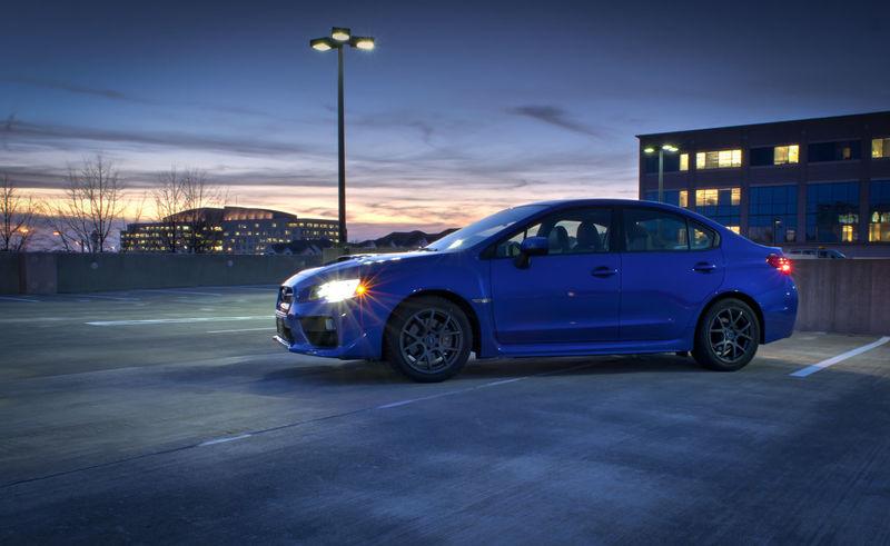 Subaru WRX Car Night Outdoors Performance Speed Street Street Light Subaru Subaru Wrx Sunset Transportation Vehicle Wrx
