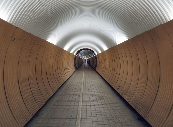 Interior of empty tunnel