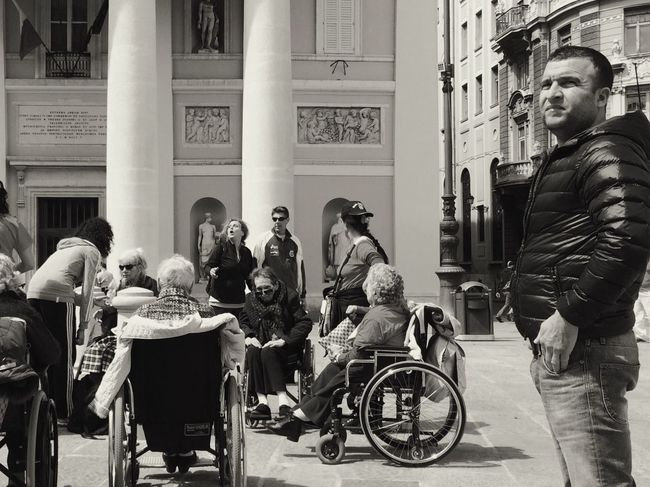 Differently abled Shoot, Share, Learn - EyeEm Trieste MeetUp Streetphotography Streetphoto_bw Blackandwhite