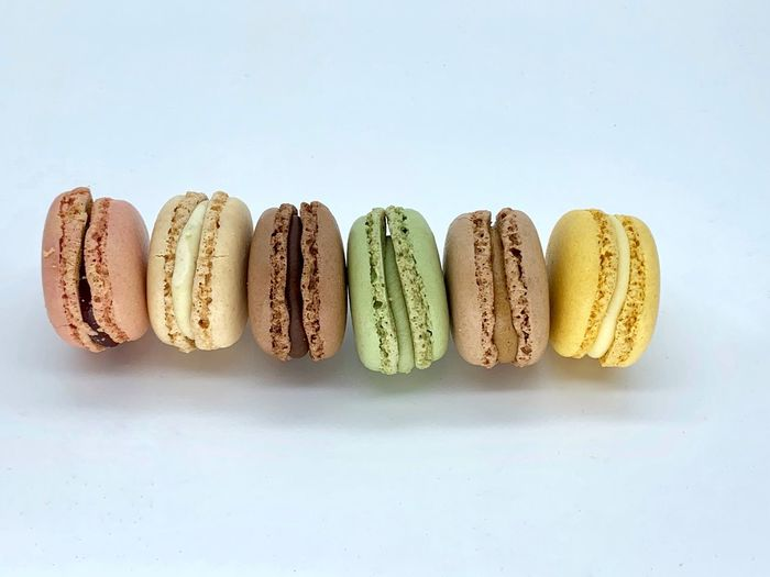 Macaroons Lover Macaroon Macaroons Food And Drink Studio Shot Food Still Life Indoors  White Background Side By Side Group Of Objects Freshness Arrangement Sweet Food Directly Above No People Indulgence Text Copy Space Ready-to-eat Sweet Dessert Baked