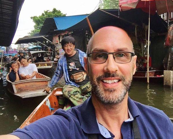 Selfie ✌ Floating Market Travel Destinations Thailand