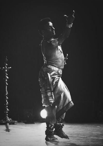 Indian Dance Blackwhite HumanArt