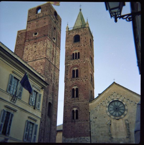 Albenga Liguria,Italy Medievale Architecture Architettura Sacra Bell Tower Building Exterior City Film Photography History Low Angle View Medieval Medieval Architecture No People