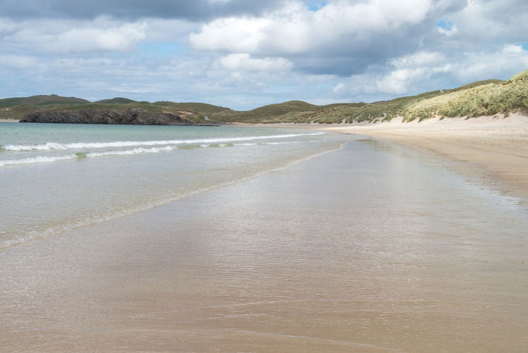 Scotland Beach Beauty In Nature Cloud - Sky Day Landscape Nature No People Outdoors Sand Scenics Scottish Highlands Sea Sky Tranquil Scene Water