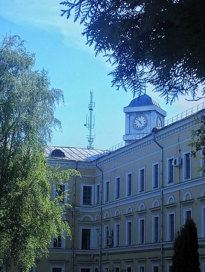 Pskov Clock Day Architecture Tree Sky Building Exterior Travel Destinations Cloud - Sky Nature Green Color Tree
