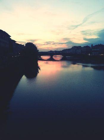 Ponte Florence Italy Tramonto City