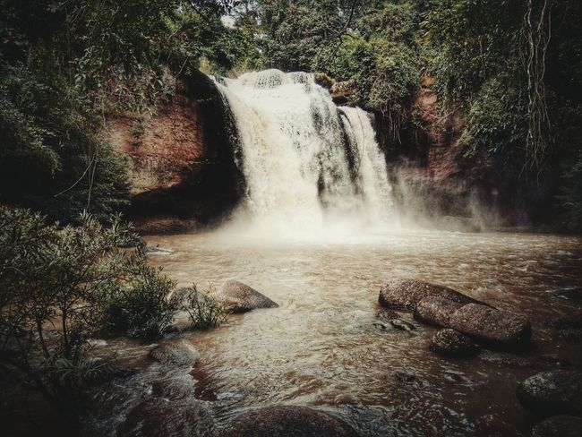 Have Such Wat. waterfall in Khao You National Park in Thailand. No People Water Day Outdoors Nature ASIA Asian  Thailand Leisure Activity Travel Destinations Trees Forest Jungle Waterfall Rock Stone Mountain Landscape Landmark