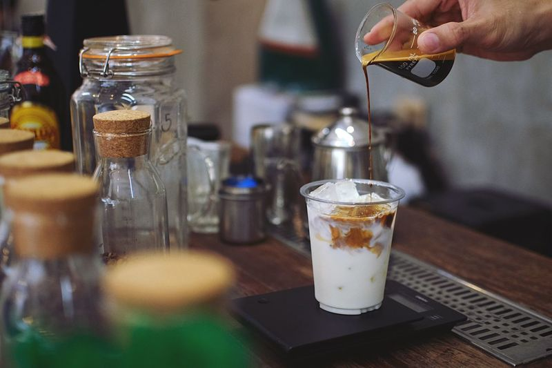 Coffee maker Cafehopping Coffee Shop Relaxing Slow Life Coffee - Drink Coffee Break Latte Latte Macchiato Chilling Chill Mode Human Hand Food And Drink Hand Human Body Part Drink Food Freshness Refreshment Table Drinking Glass Holding Finger Indoors  Focus On Foreground Real People