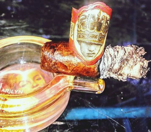 Long Live the King... Cigar Cigarsnob Enjoy The New Normal Cigars Lifestyles Cigarstagram Cigarsociety Cigars Cigarsmoke Monochrome Cigar Smoking