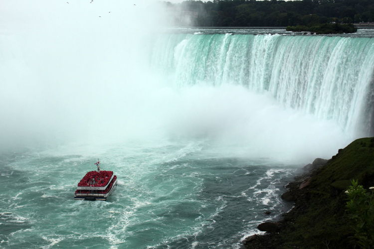Niagara Beauty In Nature Canada Motion Nature Power In Nature Sky Travel Destinations Water Waterfall