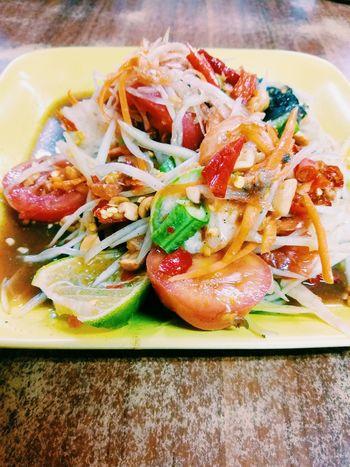 I Love Som Tam Food Ready-to-eat Thaifood Papaya Salad Papaya Delicious Spicy Zap