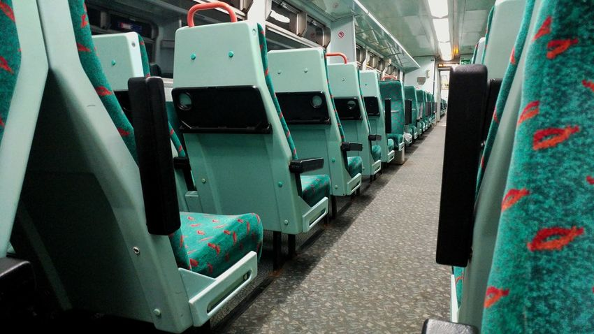 Empty No People Industry Indoors  Night Train Night Train Train Ride Repeating Patterns Empty Empty Train