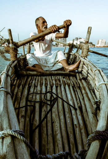 Traditional Bearings Festival, Doha, Qatar for fishing and pearl Katara Cultural Village Qatar Doha,Qatar Cultures Culture Hertitage Travel Tourism Arab Gulf Nautical Vessel Real People Transportation Nature Sea Mode Of Transportation