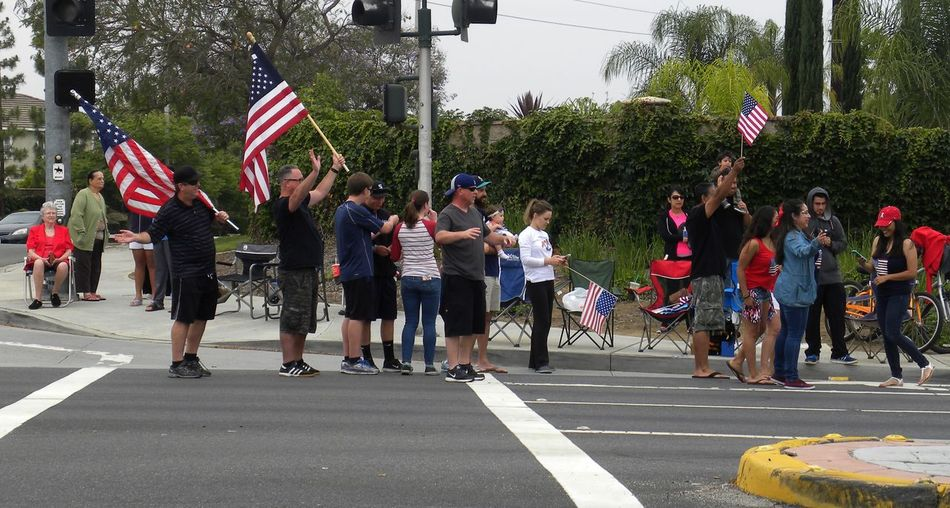 Taking Photos Enjoying Life Hanging Out Bikers Outdoors Veterans Memorial Day West Coast Thunder Feel The Journey Memorialday People California Color Photography Showing Support American Flag