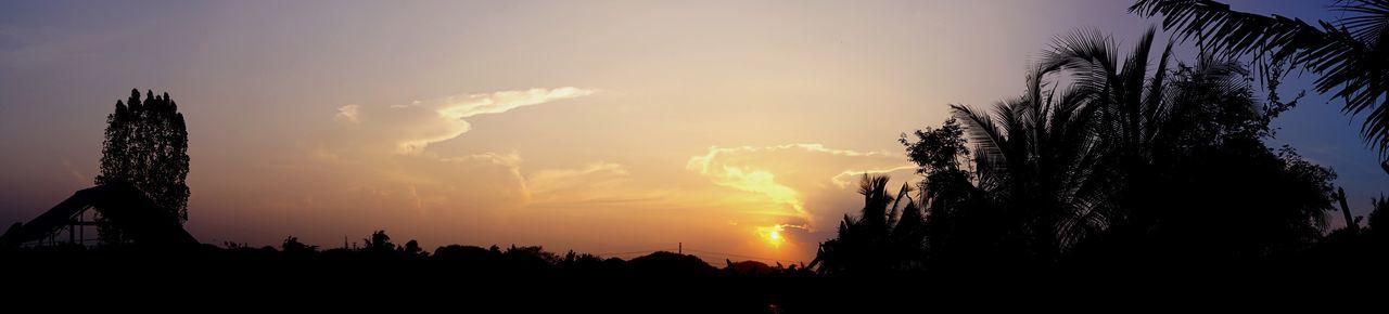 Mountain Tree Panorama Sunset Sky Nature Beauty In Nature No People Outdoors Vanilla Sky Sun