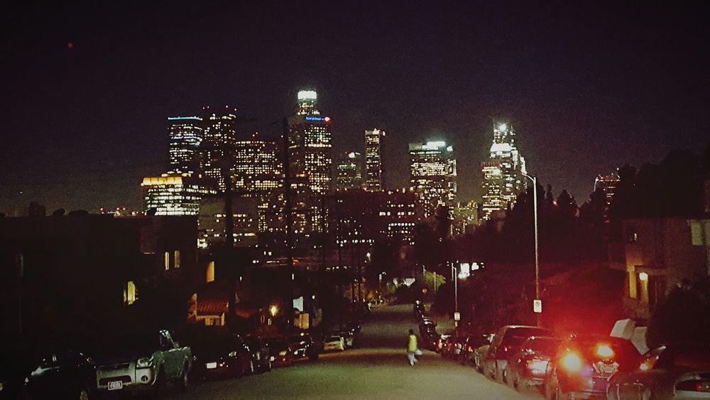 Los Angeles Skyline Los Angeles At Night Los Angeles Downtown Los Angeles Night View